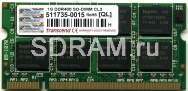 1GB DDR PC3200 SO-DIMM CL3 Transcend