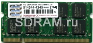1GB DDR2 PC5300 SO-DIMM CL5 Transcend