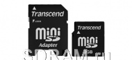 Карта памяти 2GB miniSD, Secure Digital Card, 30X,Transcend